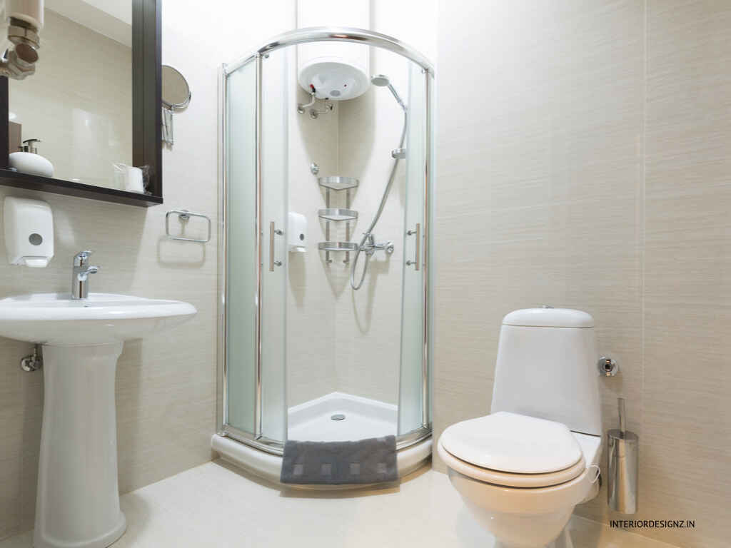 bathroom with cubicle